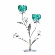 Buy *17533U - Double Peacock Bloom Candleholder