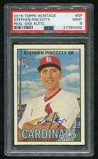 Buy 2016 TOPPS HERITAGE REAL ONE AUTO STEPHEN PISCOTTY, PSA 9 MINT (27364562)