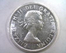 Buy 1958 CANADIAN SILVER DOLLAR ELIZABETH II CHOICE ABOUT UNCIRCULATED+ CH. AU+ NICE