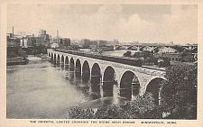 Buy The Oriental Limited Crossing the Stone Arch Bridge Minneapolis Vintage Postcard