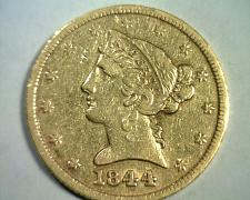 Buy 1844 5 DOLLAR LIBERTY GOLD EXTRA FINE XF EXTREMELY FINE EF NICE ORIGINAL COIN