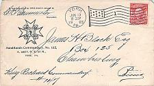 Buy York PA 1905 Knights of Malta Cover, Chambersburg Dormeus Received Back-stamp