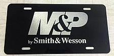 Buy Laser Engraved M&P Smith & Wesson Logo License Plate Car Tag Vanity Plate