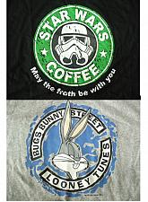 Buy BUGS BUNNY SIZE L GREY COLOR, STAR WARS COFFEE SIZE XL BLACK COLOR T-SHIRT