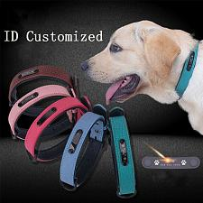 Buy Personalized Dog Collar Lable adjustable Soft Leather Custom Dog Collar Name ID