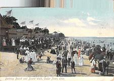 Buy Bathing Beach and Board Walk, Cedar Point, Ohio, Ohio Vintage Postcard