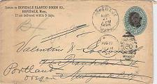Buy 1894 Hopedale Mass to New York and Forwarded to Portland Ore w/ Received HS