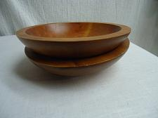 Buy BARIBOCRAFT CANADA WOOD SALAD SNACK BOWLS SET of 2 Mid Century Mod