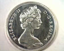 Buy 1967 CANADIAN HALF DOLLAR CHOICE UNCIRCULATED+ PROOF LIKE CH. UNC.+ PL ORIGINAL