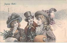 Buy Happy new Year Victorian Trio Well Printed Lithograph Vintage Used Postcard