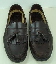 Buy French Shriner Mens Brown Leather Cortland Tassel Loafer Shoes 12 W