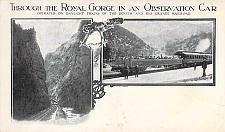 Buy Through The royal Gorge In an Observation Car Railroad Vintage Postcard