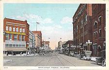 Buy Main Street, Pueblo Colorado, 1920's Autos Vintage Postcard