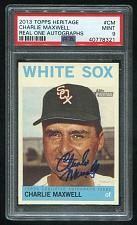 Buy 2013 TOPPS HERITAGE REAL ONE AUTO CHARLIE MAXWELL, PSA 9 MINT (40778321)