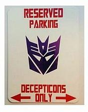 Buy Decepticon Parking Sign