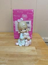 """Buy Precious Moments-#108523 """"Overflowing With Love"""" -Girl Holding Many Hearts- NEW"""