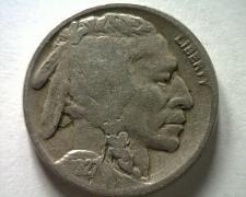 Buy 1927-D BUFFALO NICKEL FINE F NICE ORIGINAL COIN FROM BOBS COINS FAST SHIPMENT