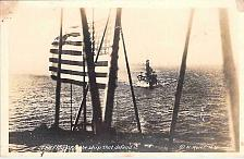 Buy US Navy The Flag & the Ship that Defend it Pre WW II Real Photo Vintage Postcard