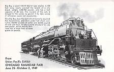 Buy Union Pacific Exhibit Chicago Railroad Fair 1949 Railroad Postcard