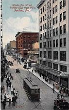 Buy Washington Street Looking West PortlandOregon Vintage Unused Postcard