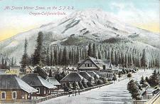 Buy Mt. Shasta Winter Scene on the Southern Pacific Railway Vintage Postcard