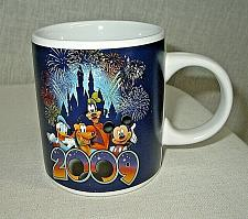 Buy Disney 2009 mug Blue Jerry Leigh Mickey Mouse, Goofy, Pluto and Donald Duck