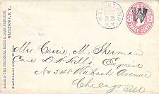"Buy U58 Watertown NY Fancy Cancel ""W"" to Chicago Cover"