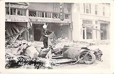 Buy Compton Earthquake, 1932 Flattened Car Real Photo Vintage Postcard