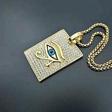 Buy Elvis Presley TCB Horseshoe Concert Crystal 1950's Horus Eyes Pendant Necklace