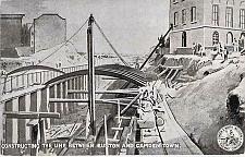 Buy England English Constructing The Line Euston and Camden Unused Vintage Postcard