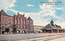 Buy Koehler Hotel and U.P. Railroad Station, Grand Island, Nebraska Postcard