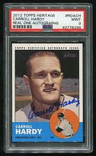 Buy 2012 TOPPS HERITAGE REAL ONE AUTO CARROLL HARDY, PSA 9 MINT (40778298)