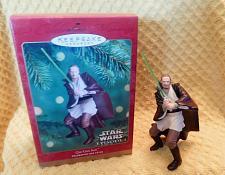 Buy Hallmark 2000 Star Wars Episode 1 Qui-Gon Jinn Christmas Ornament W/Box!