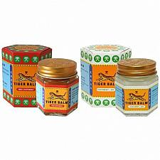 Buy TIGER BALM WHITE & RED FOR RELIEF OF MUSCULAR PAIN HERBAL MASSAGE RUB 19.4G,30G.