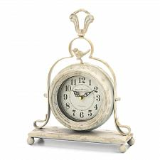 Buy *18811U - Vintage White Finish Tabletop Clock