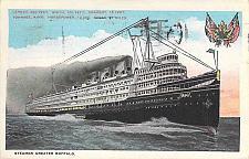Buy Steamer Greater Buffalo Vintage Used Postcard