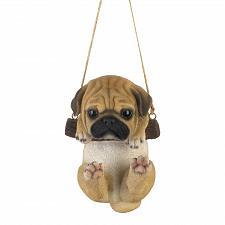 Buy *18800U - Swinging Pug Puppy Hanging Figurine Decor