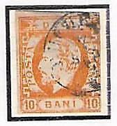 Buy Romania Scott #44, 10 Bani Orange Yellow , Prince Carol, CV $35