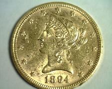 Buy 1894 TEN DOLLAR LIBERTY GOLD UNCIRCULATED+ UNC.+ NICE ORIGINAL COIN BOBS COINS