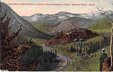 Buy Continental Divide from Mammoth Park Moffat Road, Colo Used Vintage Postcard