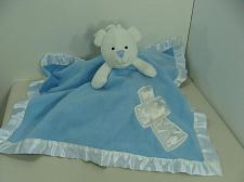 Buy Bear Angel Security Blue Blanket With Cross from BabyBoom Excellent Condition