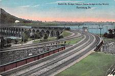 Buy Rockville Bridge, Longest Stone Bridge in World, Harrisburg PA Vintage Postcard