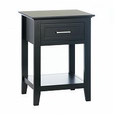 "Buy *18183U - Black Wood Crosstown 26"" Side Table Accent Furniture"