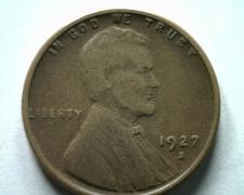 Buy 1927-S LINCOLN CENT PENNY VERY FINE / EXTRA FINE VF/XF NICE ORIGINAL COIN VF/EF