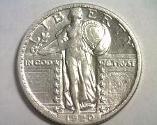 Buy 1920-D STANDING LIBERTY QUARTER ABOUT UNCIRCULATED AU ABOUT UNC. NICE ORIGINAL