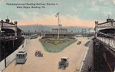 Buy Philadelphia & Reading Railway Station, Main Depot Reading PA Vintage Postcard
