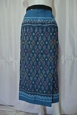 Buy Thai natural Fermented mud cloth Cotton Hand Woven Wrap Sarong Skirt Sz M SK72