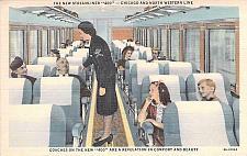 Buy New Streamliner 400, Chicago & North Western Line, Coach Car Vintage Postcard