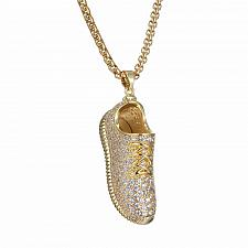 Buy Elvis Presley Shoe Crystal Concert TCB Gold Plated Chain Necklace Pendant