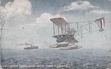 Buy British Pusher Biplane w/ Twin Floats Tuck's Vintage Postcard